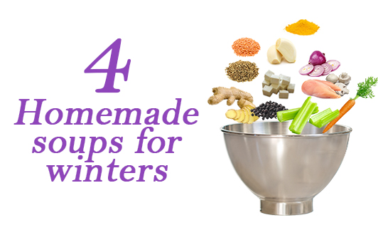 4 Homemade soups for winter