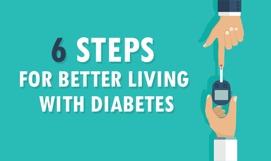 6 steps for better living with type 2 diabetes