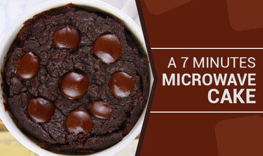 A 7 Minutes Microwave Cake