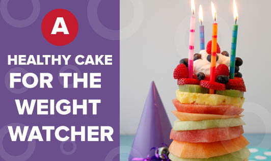 A healthy cake for the weight watcher