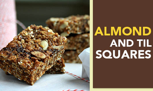 Almond and til squares