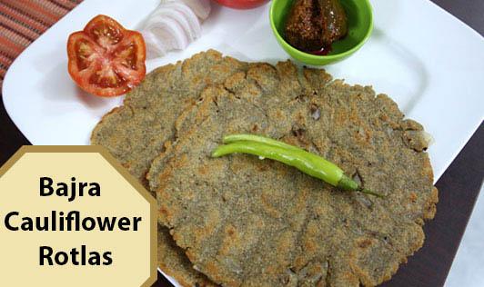 Bajra Cauliflower Rotlas