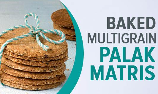 Baked Multigrain Palak Matris