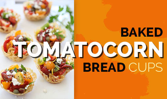 Baked Tomato Corn Bread Cups