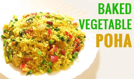 Baked Vegetable Poha