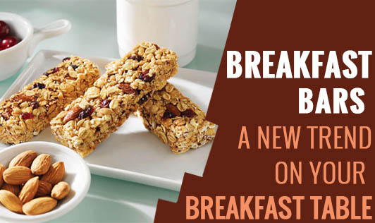 Breakfast Bars - A New Trend on Your Breakfast Table?