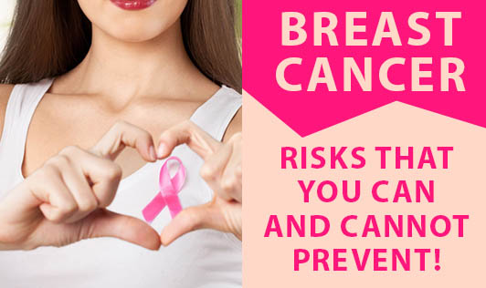 Breast Cancer Risks That You Can And Cannot Prevent!