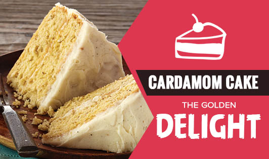 Cardamom Cake -  The Golden Delight