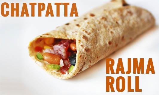 Chatpatta Rajma Roll