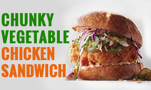Chunky Vegetable Chicken Sandwich