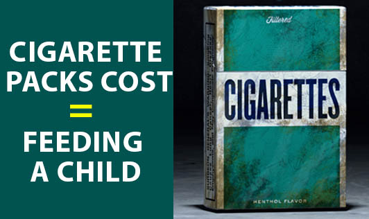 Cigarette Packs Cost = Feeding A Child