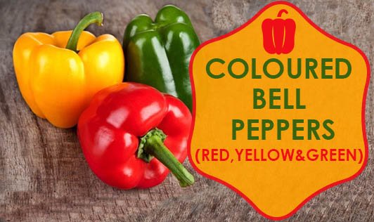Coloured Bell Peppers (Red, Yellow and Green)
