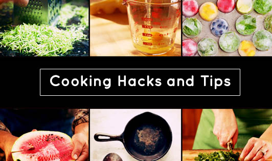 Cooking hacks and tips