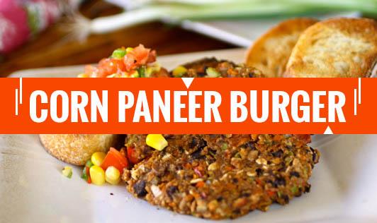 Corn Paneer Burger