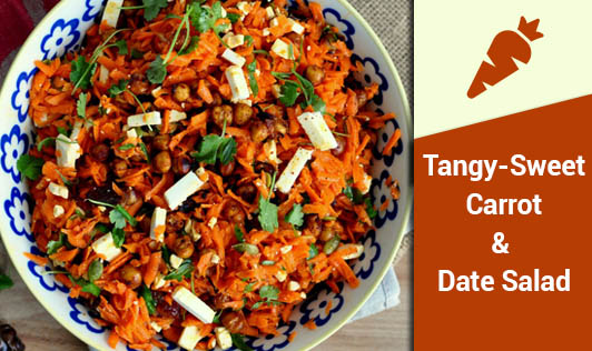 Tangy-Sweet Carrot & Date Salad