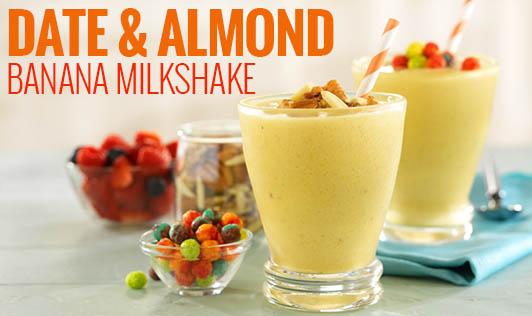 Date & Almond Banana milkshake