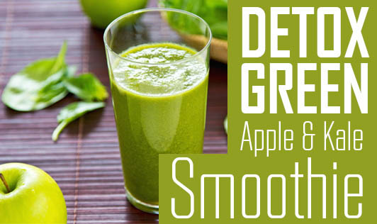 Detox Green Apple & Kale Smoothie