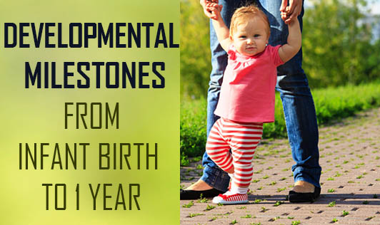 Developmental Milestones from Infant birth to 1 year