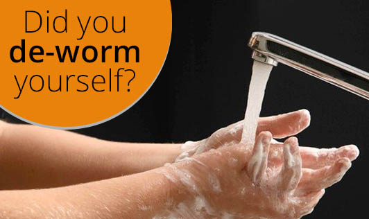 Did you de-worm yourself?