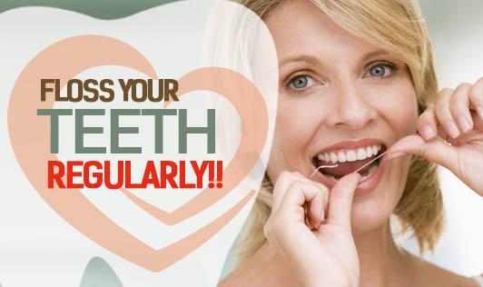 Floss Your Teeth Regularly!!