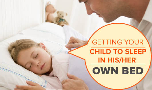 Getting your child to sleep in his/her own bed