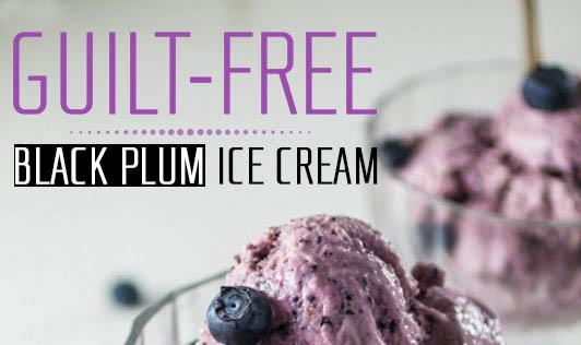 Guilt-Free Black Plum Ice Cream