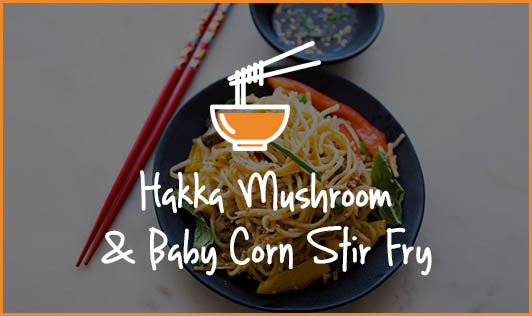 Hakka Mushroom & Baby Corn Stir Fry