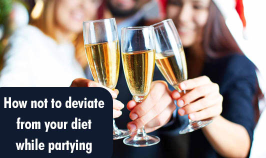 How not to deviate from your diet while partying