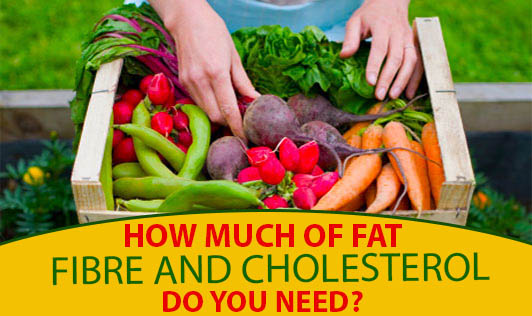 How much of fat, fibre and cholesterol do you need?