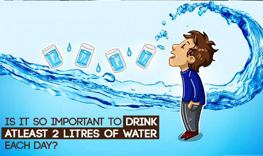 Is it so important to drink atleast 2 litres of water each day?