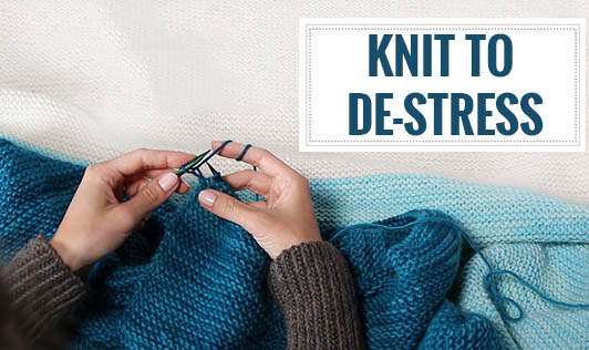 Knit to de-stress