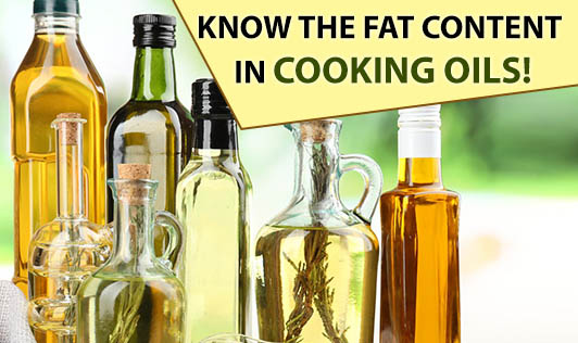 Know the Fat Content in Cooking Oils!