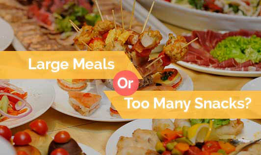 Large Meals Or Too Many Snacks?