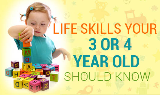Life skills your 3 or 4-year old should know