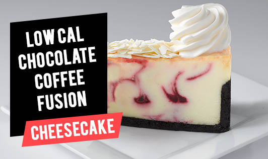 Low cal chocolate coffee fusion cheesecake