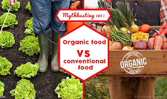 MYTHBUSTING 101: ORGANIC FOOD VS CONVENTIONAL FOOD