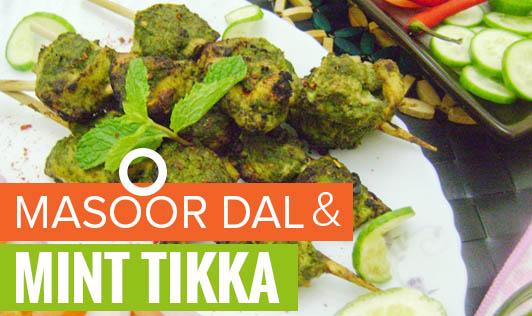 Masoor dal and Mint Tikka