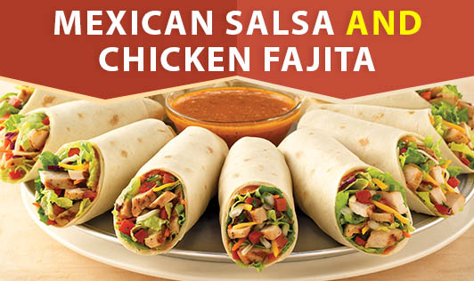 Mexican Salsa and Chicken Fajita