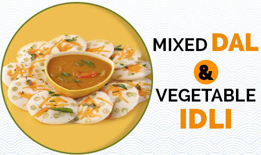 Mixed Dal & Vegetable idli