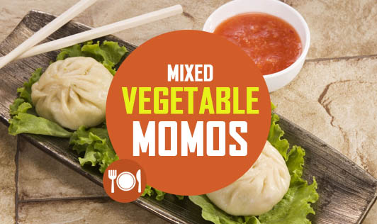 Mixed vegetable momos