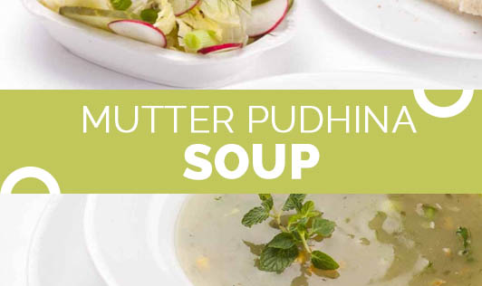 Mutter pudhina soup