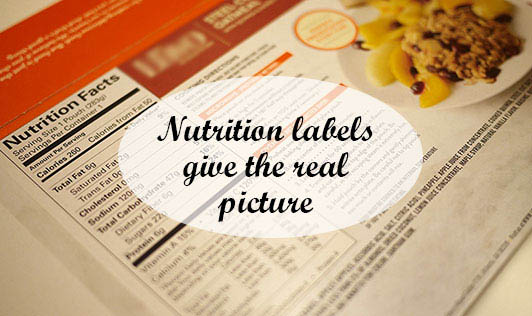 Nutrition labels give the real picture