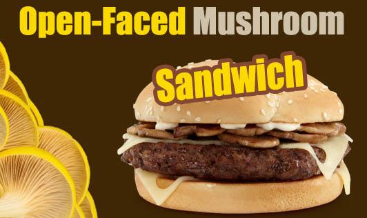 Open-Faced Mushroom Sandwich