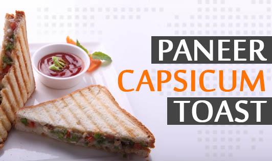 Paneer Capsicum Toast