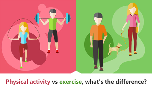 Physical activity vs exercise, what's the difference?