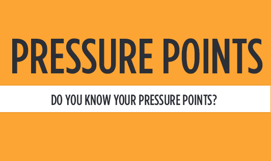 Pressure points Do you know your pressure points?