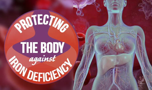 Protecting the body against iron deficiency