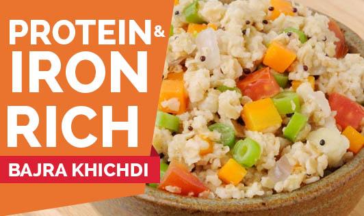 Protein and Iron rich Bajra khichdi