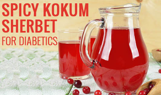 Spicy Kokum Sherbet for Diabetics