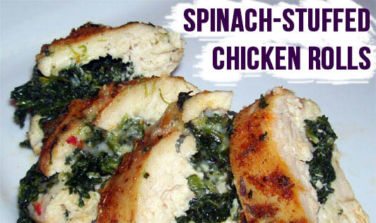 Spinach-Stuffed Chicken Rolls
